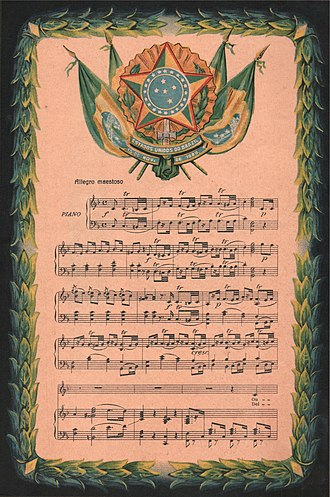 Brazilian National Anthem - Image: Hino Nacional Brasileiro (partitura)