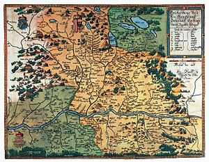 Augustin Hirschvogel - Map of Austria, 1542.