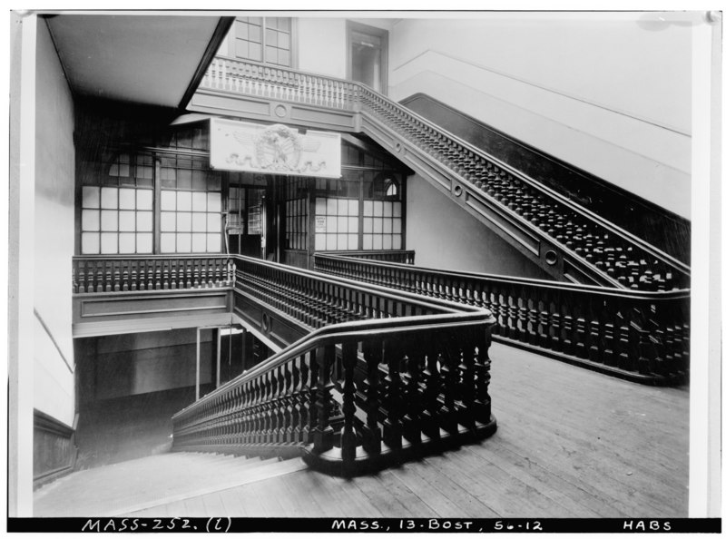 File:Historic American Buildings Survey Arthur C. Haskell, Photographer Apr. 1, 1939 (l) INT.- STAIRWAY, 4th FLOOR, LOOKING SOUTH - M.I.T., Rogers Building, 491 Boylston Street, HABS MASS,13-BOST,56-12.tif