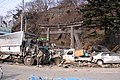 Hitsujisaki jinja Gate after Tsunami.JPG
