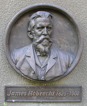 Hobrecht-Plan - Memorial plaque for James Hobrecht in Hobrechtsfelde