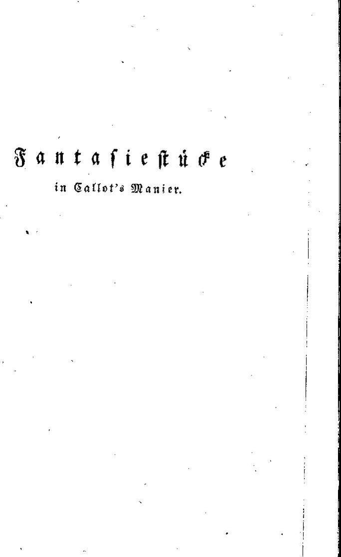Fantasiestücke in Callots Manier (German Edition)