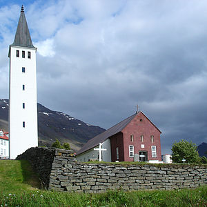 Architecture of Iceland - Hólakirkja, the largest stone church constructed in the country.
