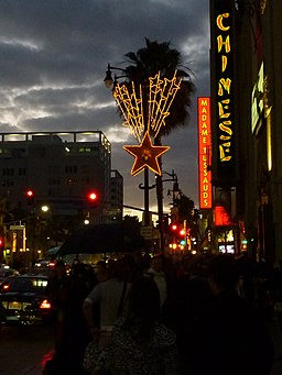 Hollywood, CA, View W Hollywood Blvd on the Walk of Stars, 2009 - panoramio