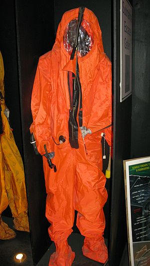 Submarine Escape Immersion Equipment - Image: Hooded Immersion Suit RNSM