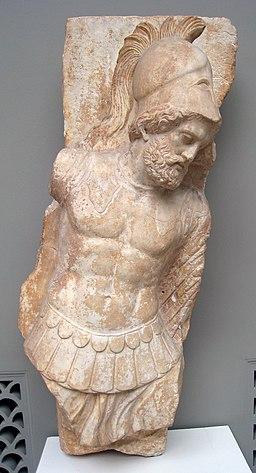 Hoplite grave relief