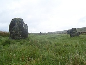 Hordron Edge stone circle - Part of Hordron Edge stone circle
