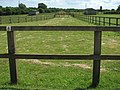 Horse paddocks and shelters at Redwings - geograph.org.uk - 1385692.jpg