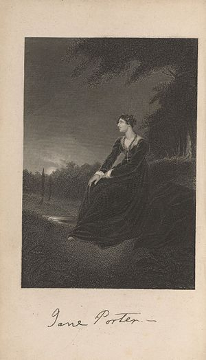 Jane Porter - Engraving of the author from an 1846 edition of The Pastor's Fireside
