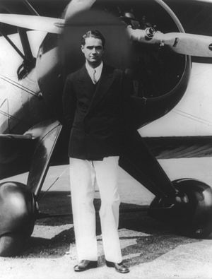 Howard Hughes - Hughes with his Boeing 100 in the 1940s