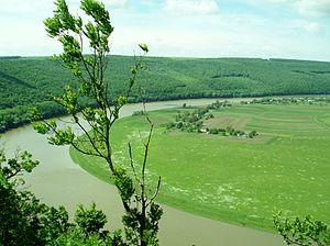 Cucuteni–Trypillia culture - Dniester landscape in Ternopil Oblast, Western Ukraine