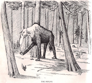 Fearsome Creatures of the Lumberwoods, With a Few Desert and Mountain Beasts - The hugag as illustrated by Coert Du Bois