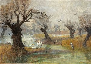 Hugo Charlemont - Pelicans on the Riverbank