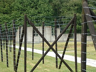 Westerbork transit camp - Parts of a rebuilt hut at Westerbork, which once held Anne Frank