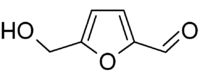 Structural formula of hydroxymethylfurfural