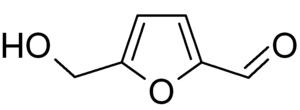 Hydroxymethylfurfural - Image: Hydroxymethylfurfura l