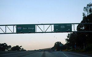 Interstate 805 - I-805 northbound at SR 905