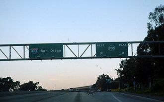 California State Route 905 - I-805 northbound at the SR 905 interchange