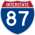 Interstate 87 marker