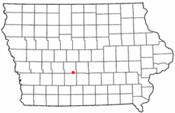 Location of Booneville, Iowa