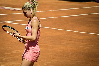 Camila Giorgi - Camila Giorgi in action at the 2014 Italian Open