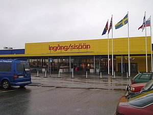 Sweden and the euro - IKEA in Haparanda, the base for the shopping center which attracts many Finns.