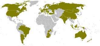 Korfball - Members of the International Korfball Federation