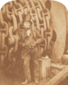 IK Brunel next to chains at the launching of SS Great Eastern 1857.png