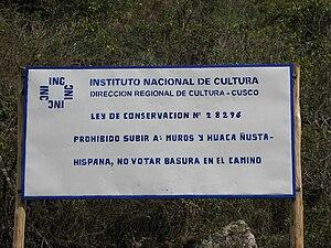 Ñusta Hispana - Image: INC Sign Nusta Hispana