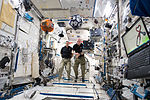 ISS-46 Mikhail Kornienko and Scott Kelly with SPHERES in the Kibo lab.jpg