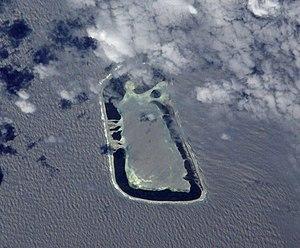 Rakahanga - NASA picture of Rakahanga