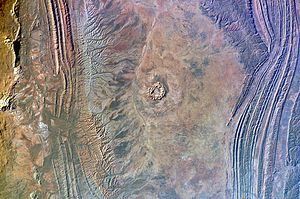 Gosses Bluff crater - Gosses Bluff crater photographed from the ISS