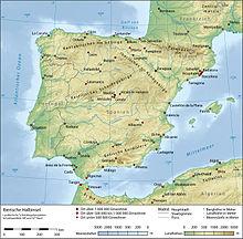 spanyolország domborzati térkép Spanyolország – Wikipédia spanyolország domborzati térkép