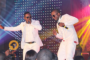 Ice Prince - Ice Prince (right) with his label mate M.I (left)
