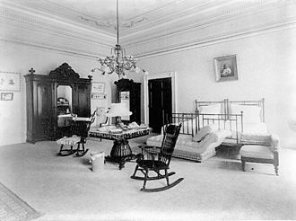 President's Dining Room - The Prince of Wales Room some time between 1897 and 1900, when it served as First Lady Ida McKinley's bedroom.