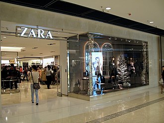 IBEX 35 - A branch of Inditex's Zara chain in Hong Kong