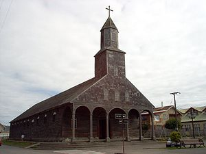 Churches of Chiloé - Image: Iglesia de Achao