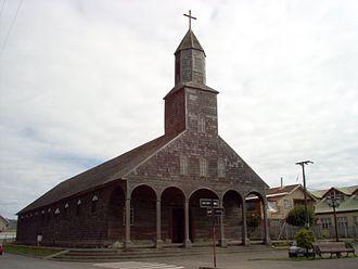Achao - Church of Santa María de Loreto, Achao, built in the 18th century.