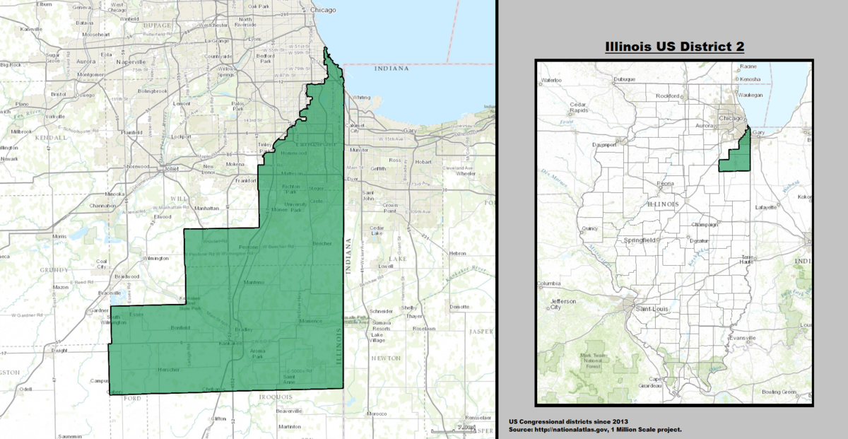 Illinoiss Nd Congressional District Wikipedia - Illinois on the us map