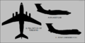 Ilyushin Il-76LL, Il-76VLP (Il-82), Ilyushin-Beriev A-60 silhouettes.png