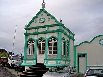 Porto Martins - The Império Divino Espírito Santo, used in the annual festivals to the Holy Spirit in Porto Martins