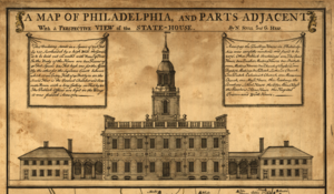 Edmund Woolley - Image: Independence Hall 1752 Map detail