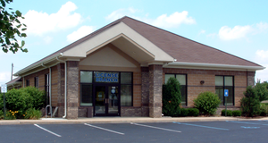 Department of Motor Vehicles - A BMV license branch in West Lafayette, Indiana.