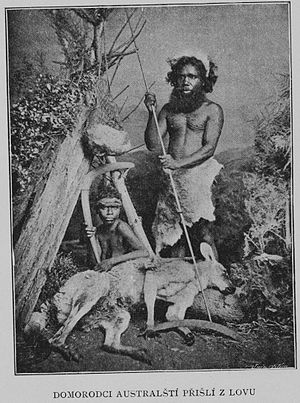 Josef Kořenský - Indigenous Australian hunters