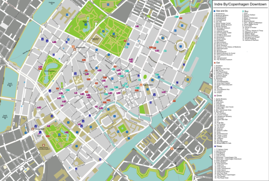 Map of Copenhagen/Indre By