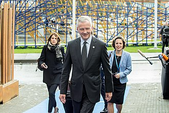 Bruno Le Maire - Le Maire arriving at an Economic and Financial Affairs Council meeting in September 2017