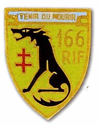 Fortified Sector of Rohrbach - Image: Insigne régimentaire du 166e régiment d'infanterie de forteresse (1939)