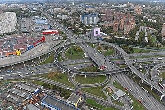 Moscow Ring Road - Image: Interchange 1 of MKAD