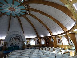 Interior of Our Lady of Victory - Igloo-Shaped Church - Inuvik - Northwest Territories - Canada - 01.jpg