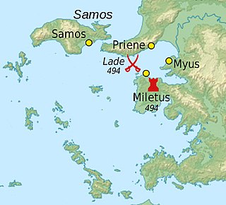 Battle of Lade Naval battle during the Ionian Revolt (494 BC)